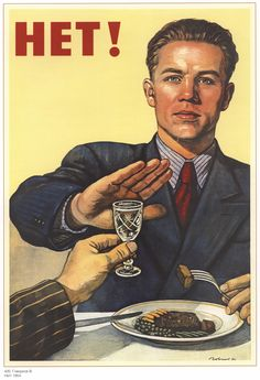 A 1930s Russian poster against the dangers of alcohol.