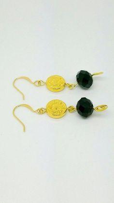 Black gold earrings – Luzjewelrydesign