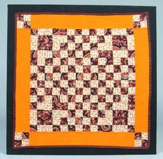 """Mounted Crib Quilt, 26"""" x 26"""", Conestoga Auction Co., Live Auctioneers"""
