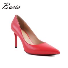 Find More Women's Pumps Information about Bacia Women High Heel Shoes Basic Model Pumps Lady Sexy Pointed Toe Wedding…