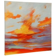 Oxidized Skies Canvas Art Print ($150) ❤ liked on Polyvore featuring home, home decor, wall art, stretched canvas, sunset wall art, canvas home decor, canvas wall art and sunset canvas wall art