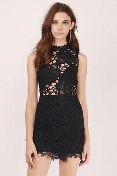 Party Dresses, Tobi, Black Sweet Fantasy Lace Bodycon Dress