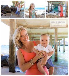 Oahu Makai Pier Portraits - Lisa Putnam Photography