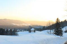 Coucher de soleil a Bellefontaine dans le #Jura : http://www.carnets-nordiques.com/jura-bellefontaine/