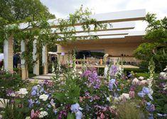 Chelsea Flower Show 2016 Retrospective: The LG Smart Garden – The Frustrated Gardener Back Gardens, Outdoor Gardens, Chelsea Garden, White And Blue Flowers, Smart Garden, Fall Planters, Garden Show, Small Garden Design, Pergola Patio