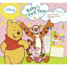Winnie the Pooh Baby Girl's 1st Year Undated Wall Calendar: The Hundred Acre Wood has been a welcoming place for the young and young at heart for generations. Capture magical memories of baby's first year with this undated full-size calendar.  $14.99  http://www.calendars.com/Disney/Winnie-the-Pooh-Baby-Girls-1st-Year-Undated-Wall-Calendar/prod201200000611/?categoryId=cat00144=cat00144#