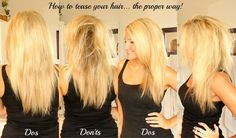 How to Tease Your Hair… The Proper Way! {Video}