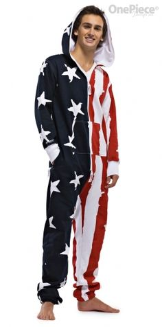 » OnePiece: The Big Happy Adult Onesie » This would be PERFECT for a Winter Olympic Party! Team USA!