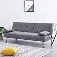 Wellgarden Modern 3 Seater Sofa Bed Line Fabric Sofa Couch Settee Sleeper With C Wellgarde In 2020 Modern Sleeper Sofa Cushions On Sofa 3 Seater Sofa Bed
