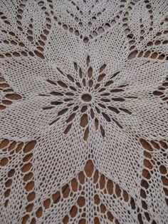 Vintage Style Lace Tablecloth 47 120 cm Ecru Handknitted – Knitting world Lace Knitting, Knitting Stitches, Knitting Patterns, Crochet Tablecloth, Crochet Doilies, Doily Patterns, Stitch Patterns, Vintage Style, Vintage Fashion