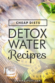 because you want to detox and lose some weight in the process doesn't mean you have to spend a lot on pills, supplements and diet books. It doesn't have to taste nasty either. Just drink a glass of delicious detox water three times a day. Quick Detox, Healthy Detox, Healthy Drinks, Healthy Water, Detox Diet Drinks, Detox Diet Plan, Cleanse Diet, Stomach Cleanse, Detox Foods