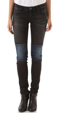 Maison Scotch La Parisienne Patchwork Skinny Jeans