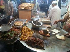 Making baida roti, chicken rolls and non veg dishes at Mhmd Ali Road during Ramzan in Mumbai
