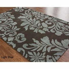 Rug Collective Handmade Damask Faux Silk Wool Rug | eBay