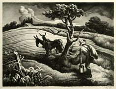 Approaching storm ', lithography Thomas Hart Benton (1889-1975, United States)