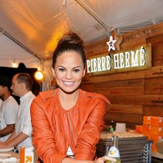 Model Chrissy Teigen Loves Airplane Food and Ina Garten's Salmon. Photo by Dave Kotinsky/Getty Images