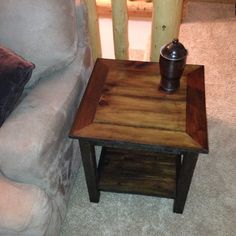 Barnwood End Table  Reclaimed Wood by OreDockDesign on Etsy, $350.00