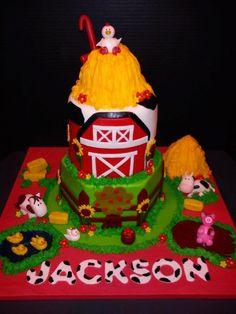 My nephew, Jackson's, first birthday cake.