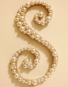 Pearl Monogram Cake Topper  White or Ivory by LLBridalDesigns, $24.50   We could…