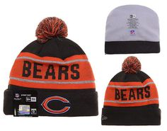 1dfcc550875 Mens   Womens Chicago Bears New Era Black Friday 2015 X-Mas Santa NFL  Biggest Fan Reflective Knit Beanie Hat With Pom Pom