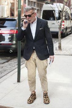 Nick Wooster. Nice shoes. #mensWear #menstyle #man