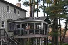 Raised Deck with Screened Porch/ grilling space