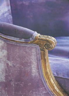 Vintage purple, beige, brown with a spot of black