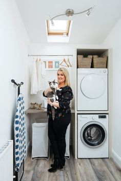 Best of 16 small laundry room design - Modern Laundry Room Tables, Laundry Room Lighting, Laundry Room Rugs, White Laundry Rooms, Laundry Room Doors, Laundry Room Organization, Laundry Room Design, Small Utility Room, Utility Sink