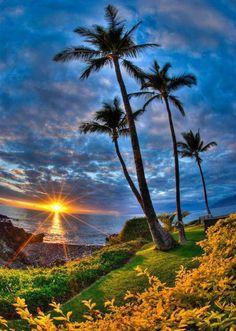 Sunset in Hawaii (Maui)