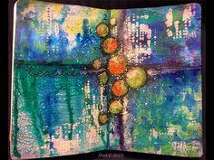 #NovDailyArtJournal -  'Abstract' Mixed Media Art Journal Page