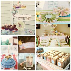 You'll love this Vintage Carnival Theme Inspiration Board - perfect for a wedding, baby shower, or kid's birthday party - stop by and check it out on 3d-memoirs.com