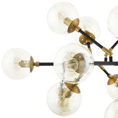 Modway Sparkle Amber Glass And Antique Brass 18 Lights Mid-Century Pendant Chandelier Flower Chandelier, Linear Chandelier, Black Chandelier, Pendant Chandelier, Ceiling Pendant, Pendant Lighting, Ceiling Lights, Chandelier Makeover