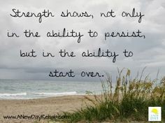Starting over is the best and the hardest part #FreshStart #Strength #Quote