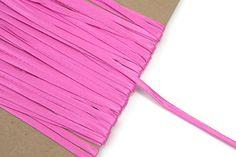 Bubblegum Pink Satin Trim Spaghetti Straps by felinusfabrics