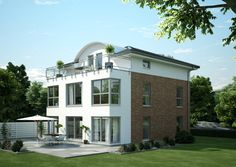 Moderne Stadtvilla Klinker Fassade - FN 116-92 B V6 - Studio Loft - Architektur OKAL Haus