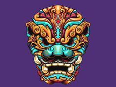 Balinese Foo Dog by Yudhi Aditya Japanese Drawings, Japanese Artwork, Japanese Tattoo Art, Lion Tattoo, Dog Tattoos, Body Art Tattoos, Horse Tattoos, Tribal Tattoos, Sleeve Tattoos