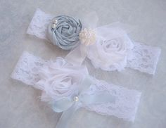SALE  Blue Garter Wedding Garter Set Toss by nanarosedesigns, $24.95, Very soft blue for that special momento