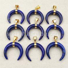 WT-P988 Fashion Design Natural Blue Lapis Stone PendantHot