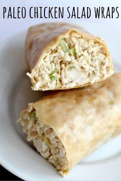 Paleo Chicken Salad Wraps | #Chicken #Paleo #Salad #Wraps