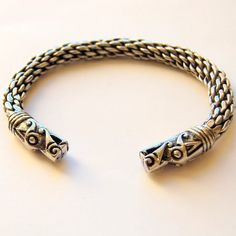 This solid, chunky and heavy Viking bracelet is based on an original from Gotland, Sweden that is 1000 years old.