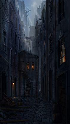 EXT DARK ALLEYWAY SMALL #EpisodeInteractive #Episode Size 640 X 1136 #EpisodeOurCrazyLoveLife Fantasy city Fantasy landscape Fantasy town