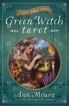 Cover for Llewellyn's Green Witch Tarot. Tarot deck by author Ann Moura and illustrator Kiri Østergaard Leonard, 2015: KiriLeonard.com