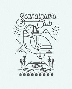 SCANDINAVIA CLUB. Illustrations by  DOCK 57