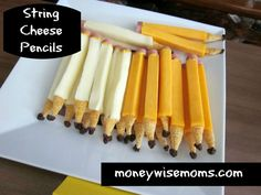 String Cheese Pencils | perfect afterschool snack for back to school
