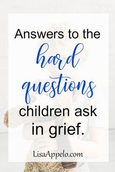 When a parent, grandparent, sibling or family pet dies, kids ask lots of questions. Here are answers to hard questions children ask in grief. Hard Questions, This Or That Questions, What Is Heaven, Hurt Heart, Dealing With Grief, Stages Of Grief, Grief Support, Grief Loss, Child Loss