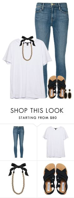 """""""BEACH ON SATURDAY!!"""" by conleighh ❤ liked on Polyvore featuring Frame Denim, Lanvin, Steve Madden and Kendra Scott"""