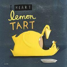 Pencil Pocket: I [heart] Lemon Tart