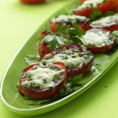 Skillet-Seared Tomatoes with Melted Gruyere Recipe | Food | Disney Family.com
