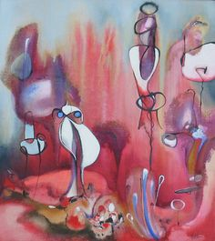 "Inspired by Miro Collection ""In A Strange World"" Julia Pinkham Original Artwork, Original Paintings, Paint Photography, Weird World, Surreal Art, Contemporary Artists, Photo Art, Saatchi Art, Illustration Art"