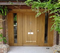 Cottage Door Sidelights - Bespoke Doors and Windows Cottage Front Doors, Oak Front Door, Front Door Porch, Porch Doors, Cottage Door, Double Front Doors, Front Door Entrance, House Front Door, Front Door Design